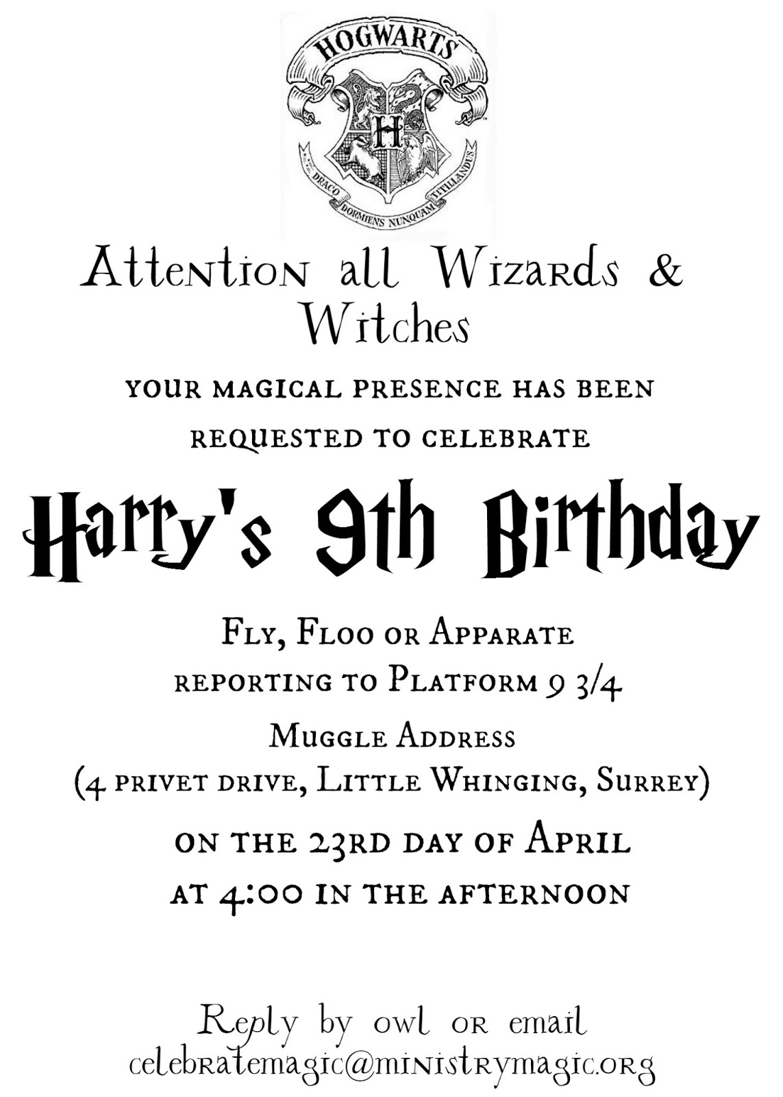 Harry Bpotter Binvite Mockblog Trend Free Harry Potter Invitation - Harry Potter Birthday Invitations Free Printable