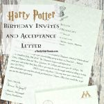 Harry Potter Birthday Invitations And Authentic Acceptance Letter   Harry Potter Birthday Invitations Free Printable