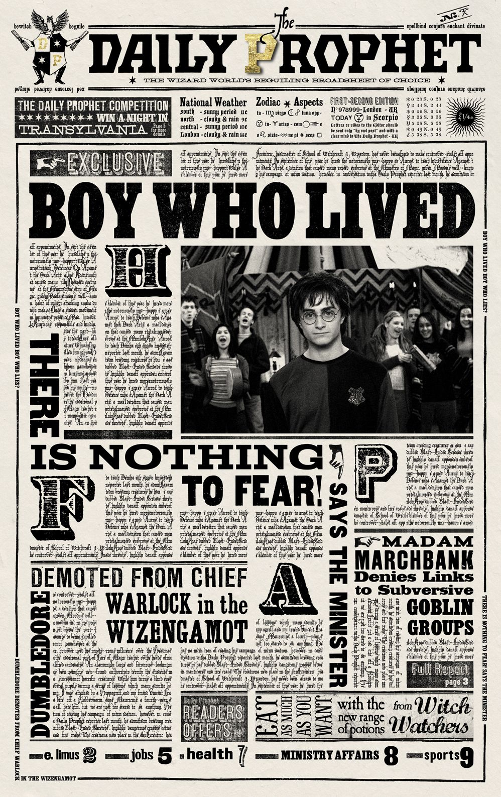 Harry Potter Daily Prophet Printable Daily Prophet   Accio Harry - Free Printable Harry Potter Posters