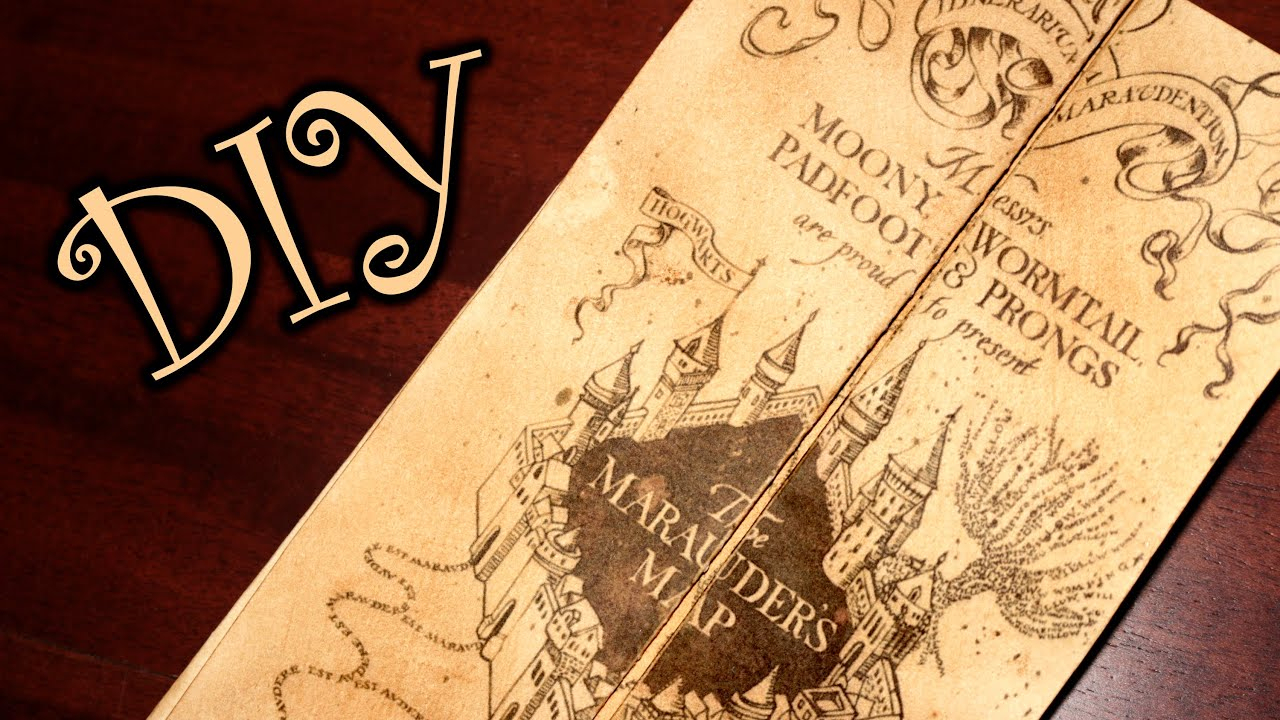 Harry Potter Marauder's Map - Diy - Youtube - Free Printable Marauders Map