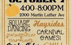 Harvest Festival Invitation | Fall Birthday Party | Fall Harvest - Free Printable Fall Festival Flyer Templates