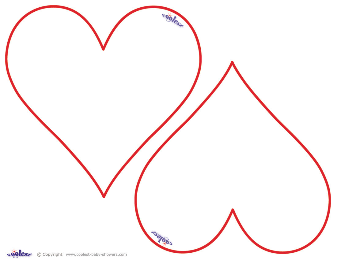 Hearts - Free Printable Heart Templates