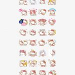 Hello Kitty Animated Stickers   Hello Kitty   Free Transparent Png   Hello Kitty Labels Printable Free