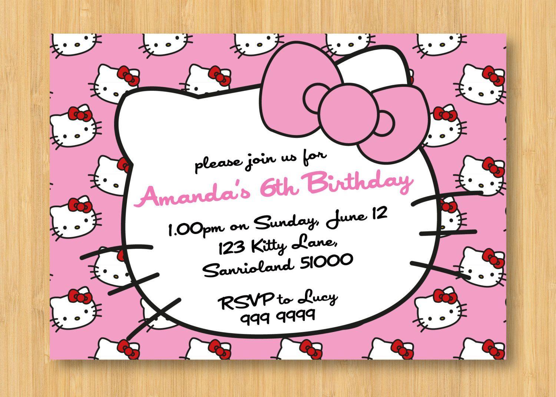 Hello Kitty Birthday Invitations Printable Free – Invitation - Hello Kitty Birthday Card Printable Free