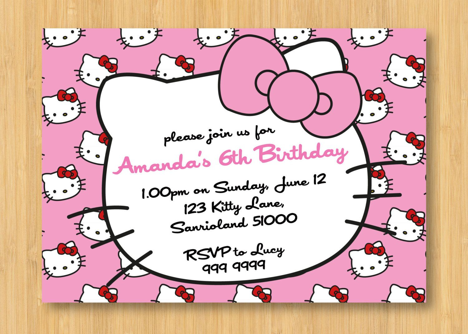 Hello Kitty Birthday Invitations Printable Free – Invitation - Hello Kitty Free Printable Invitations For Birthday