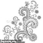 Henna Tattoo Design Coloring Page #653 | Tribal   Free Coloring   Free Printable Henna Tattoo Designs