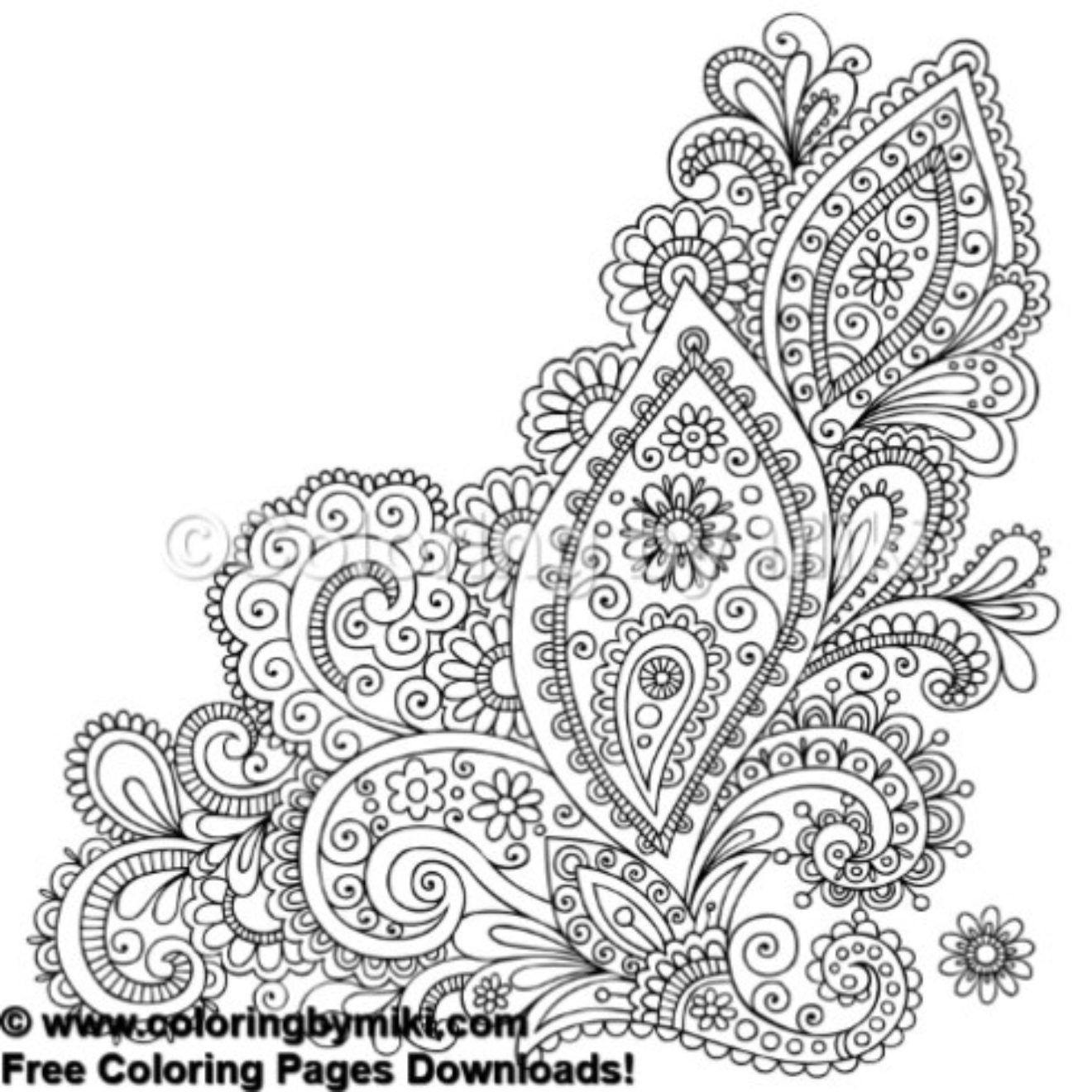 Henna Tattoo Design Coloring Page #654 | Tribal - Free Coloring - Free Printable Henna Tattoo Designs