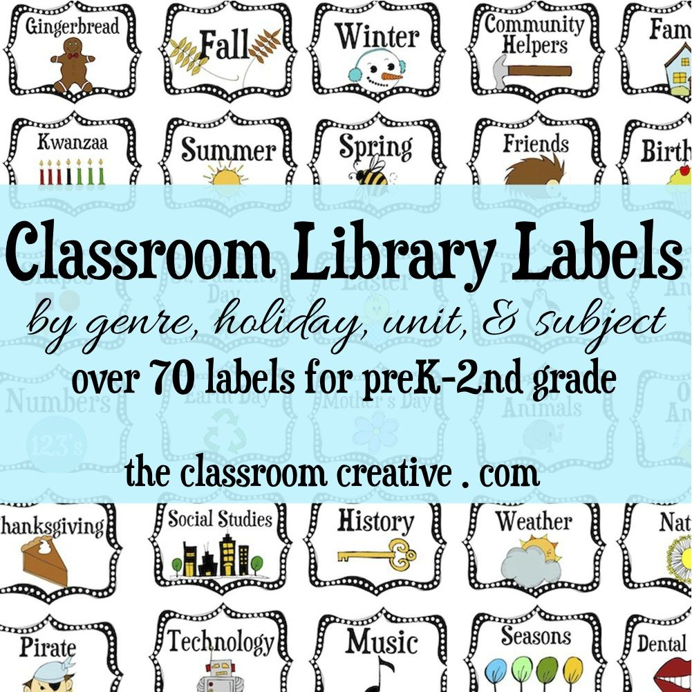 Here's Our Massive Classroom Library Labels Organization Pack! Over - Free Printable Book Bin Labels