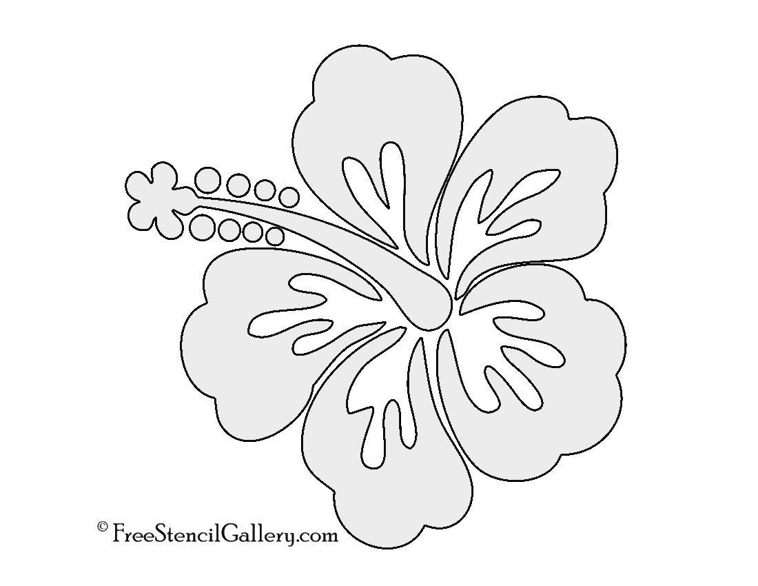 Hibiscus Flower Stencil   Free Stencil Gallery   Stencils - Free Printable Flower Stencils