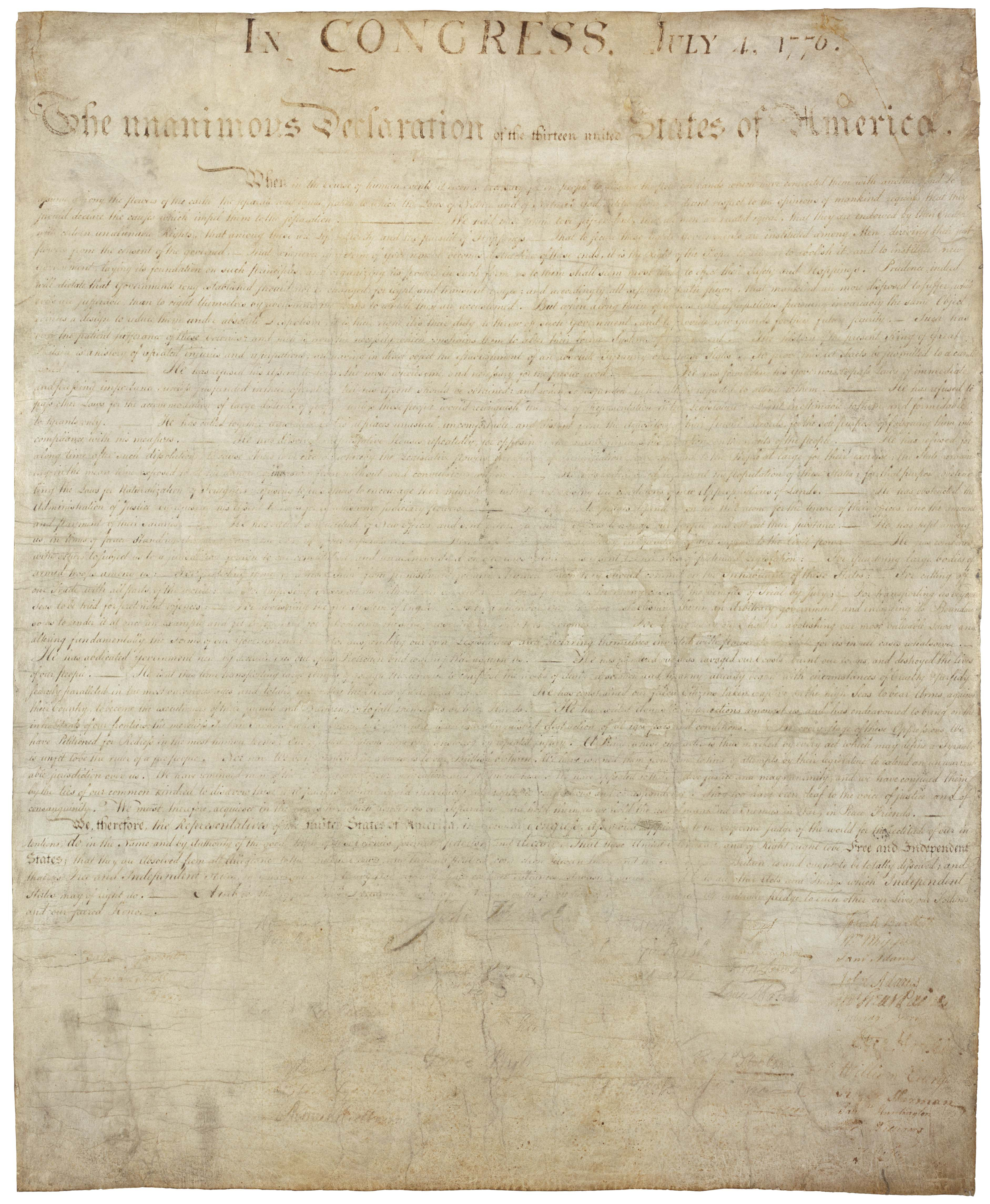 High Resolution Downloads | National Archives - Free Printable Copy Of The Declaration Of Independence