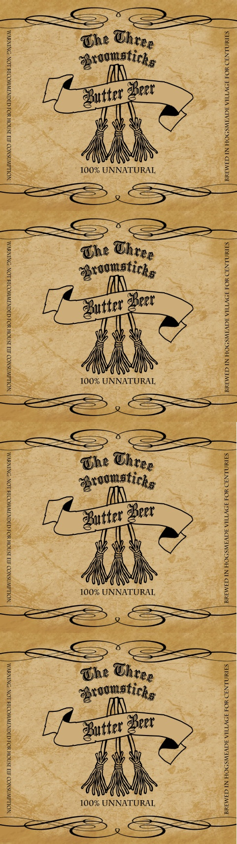 Hog Warts Express Butter Beer Label | Harry Potter - Free Printable Butterbeer Labels