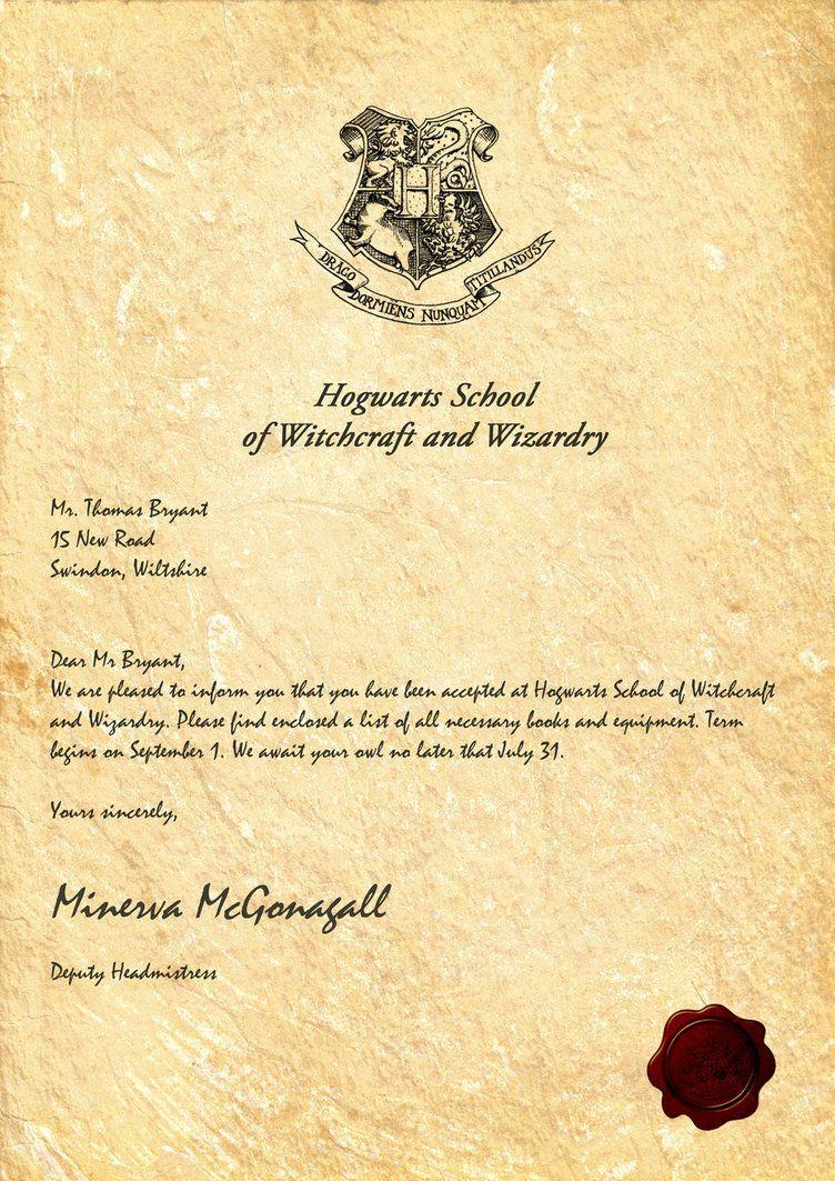 Hogwarts Acceptance Letterlegiondesign | Harry Potter Party - Hogwarts Acceptance Letter Template Free Printable