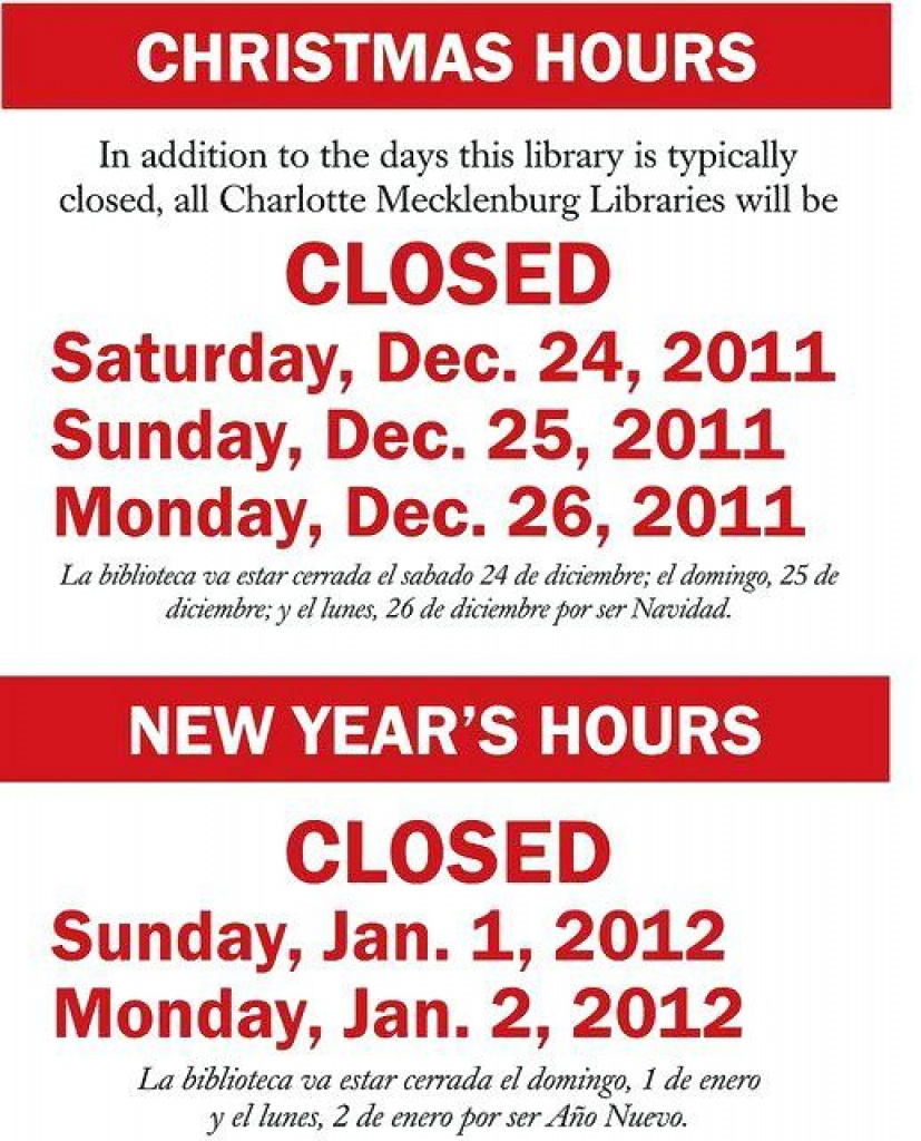 Holiday Closing Signs Templates | Template Business For Free - Free Printable Holiday Closed Signs