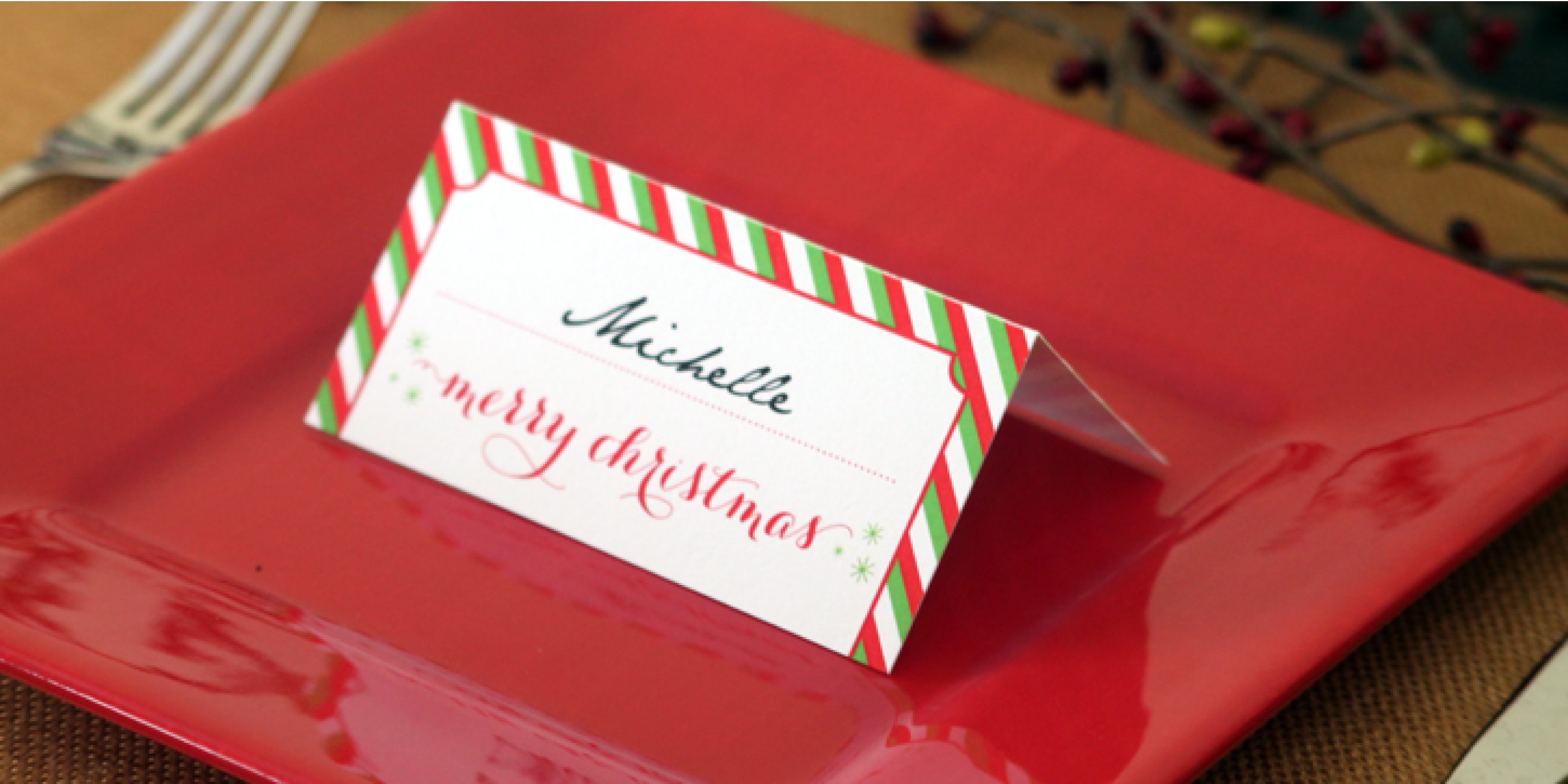 Holiday Place Card Diy Printable - Free Printable Christmas Table Place Cards Template