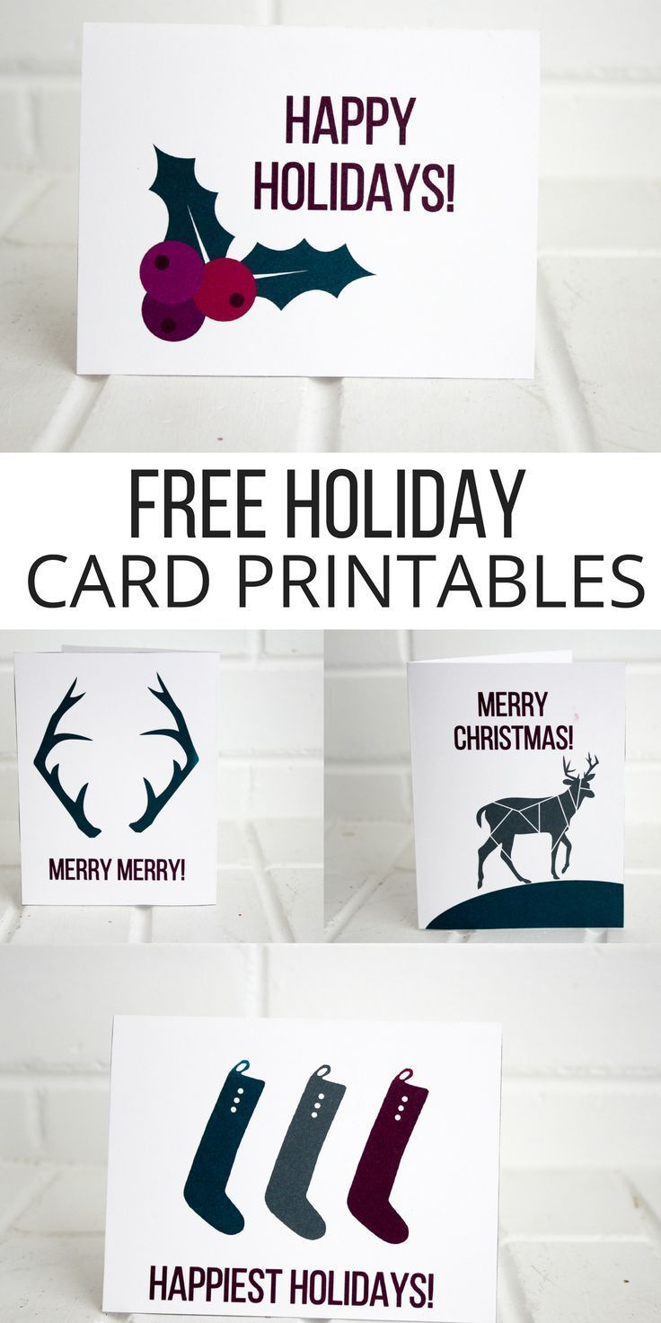 Holiday Printable Cards (Free | Christmas Decor | Christmas, Holiday - Make A Holiday Card For Free Printable