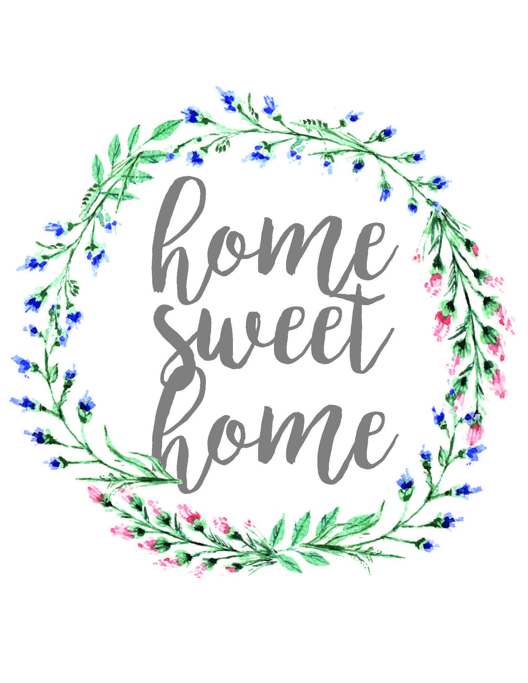 Home Sweet Home, Dorm Sweet Dorm, & Office Sweet Office Wall Art - Home Sweet Home Free Printable
