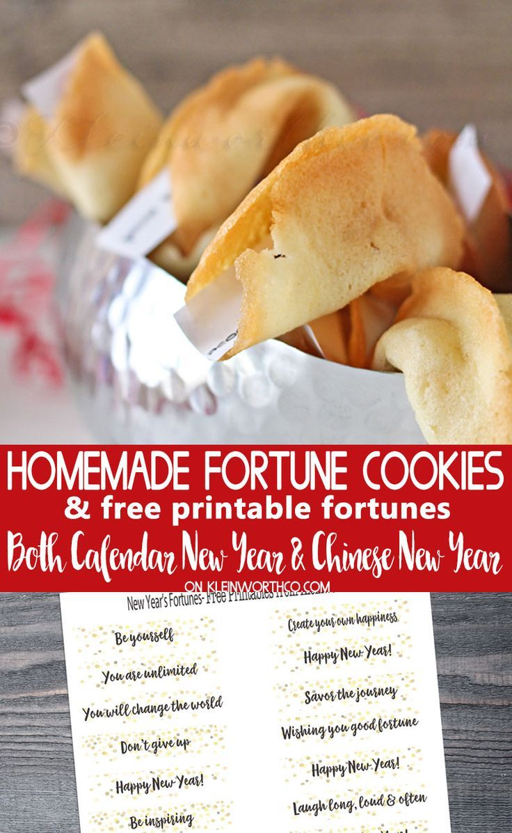 Homemade Fortune Cookies & Free Printable Fortunes To Help You Ring - Free Printable Dessert Recipes