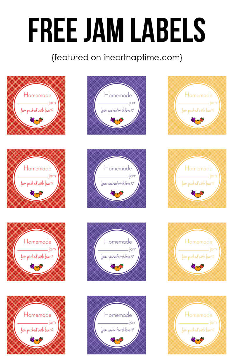 Homemade Strawberry Jam + Free Labels - I Heart Naptime - Free Printable Jam Labels