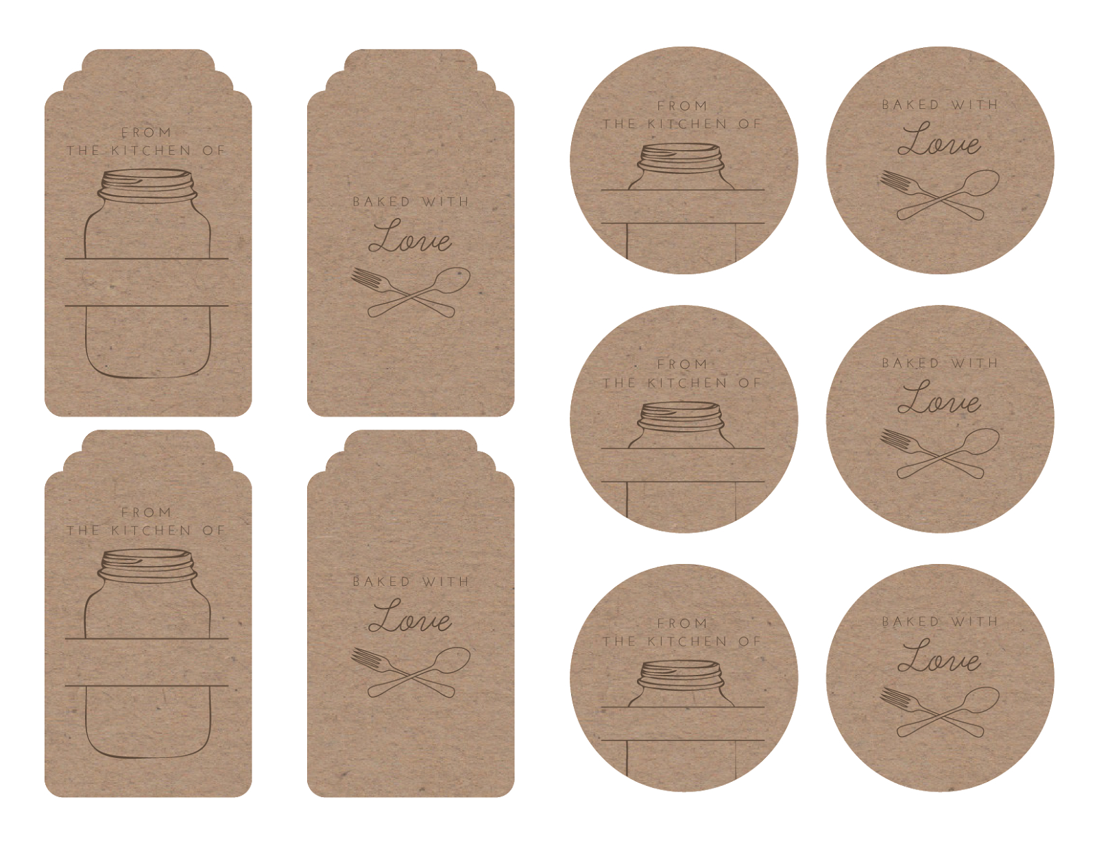 Homemade Tags For Your Baked Goods | Printables & Graphics - Free Printable Baking Labels