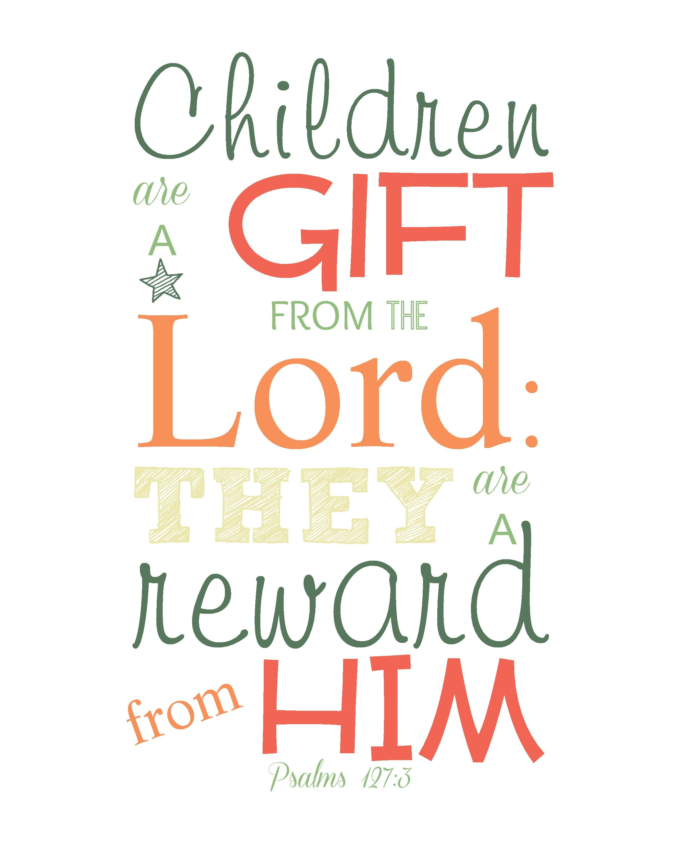 Hope For The Mom Of Many Little Ones, Free Printable Scripture Wall - Free Printable Bible Verses For Children