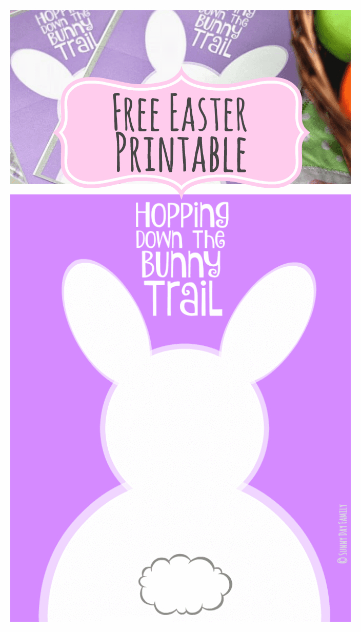 Hopping Down The Bunny Trail: Free Easter Printables In Two Sizes - Free Printable Easter Cards