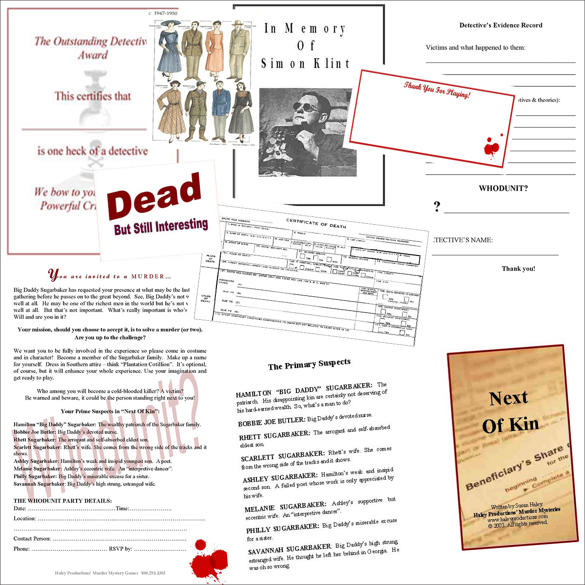 Host A Large Group Murder Mystery Party/fun Team Bonding Games - Free Printable Detective Games
