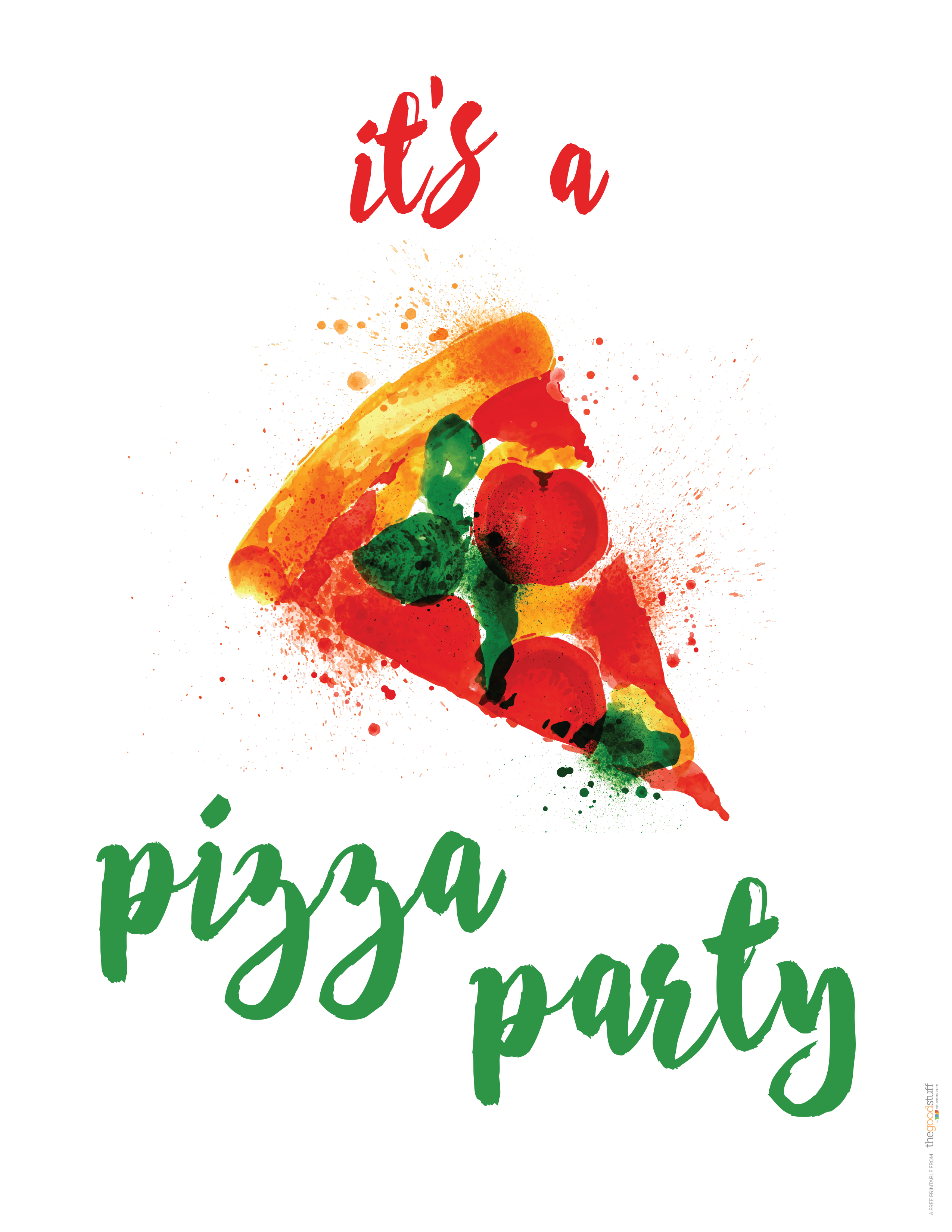 Hostess Helpers: Free Pizza Party Printables   Birthday Parties - Free Printable Italian Dinner Invitations