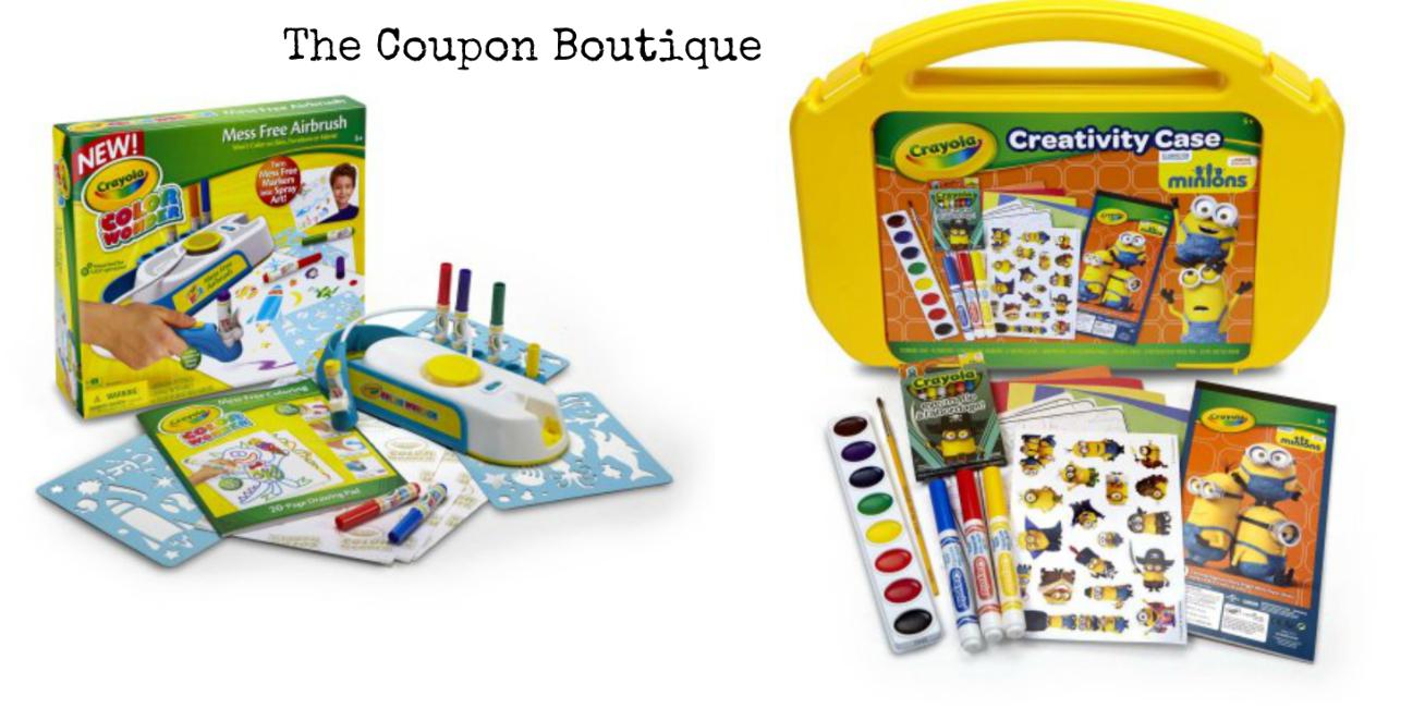 Hot* Crayola Ultimate Art Case & Mess-Free Airbrush Kit For $5 Each - Free Printable Crayola Coupons