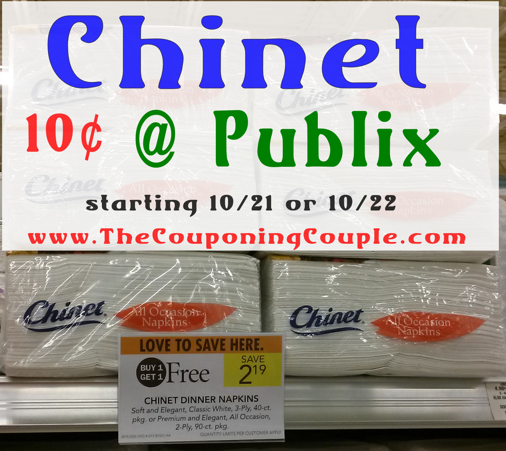 Hot Deal On Chinet Napkins At Publix Starting 10/22 - Free Printable Chinet Coupons