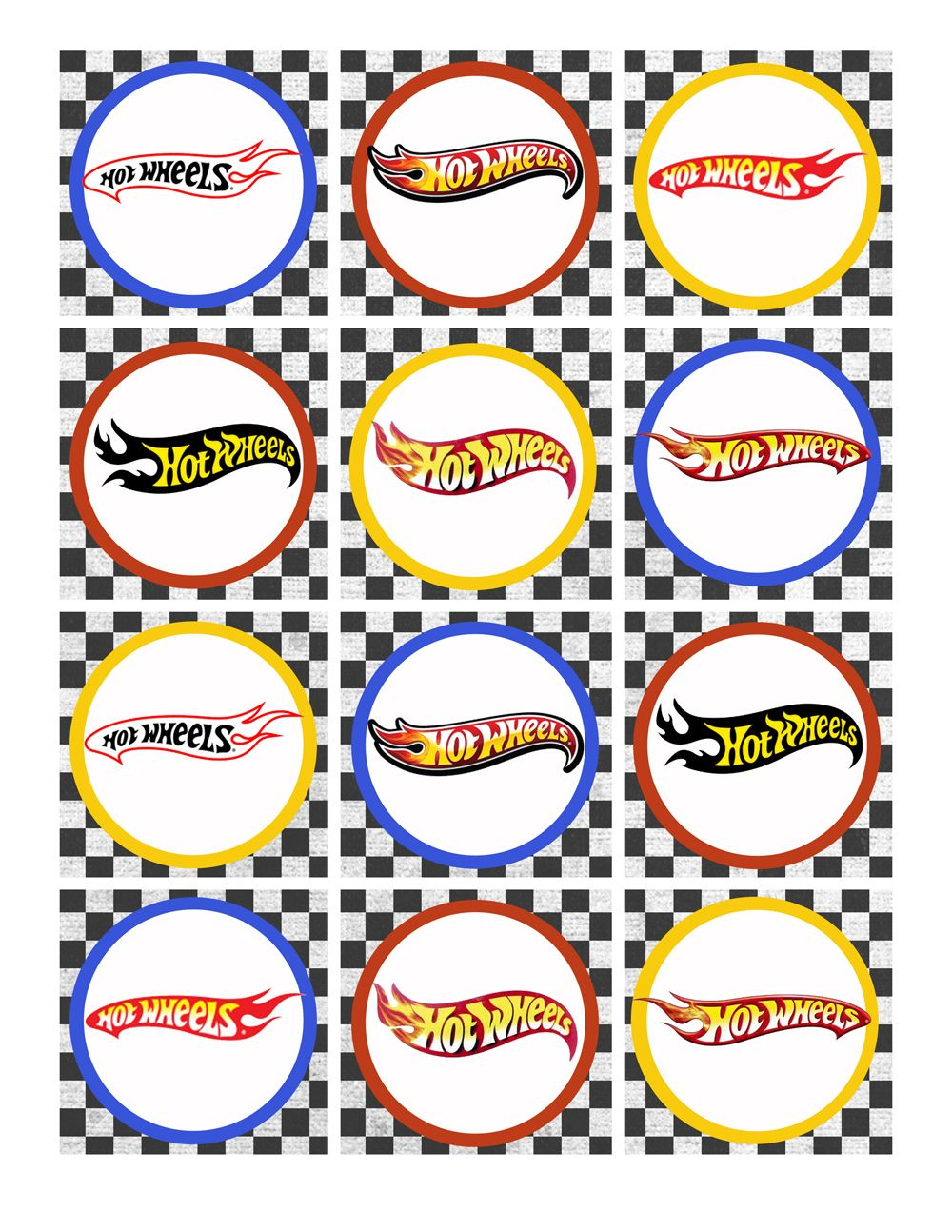 Hot Wheels Birthday Party Pack Free Printables | Party Time | Hot - Free Printable Party Circles