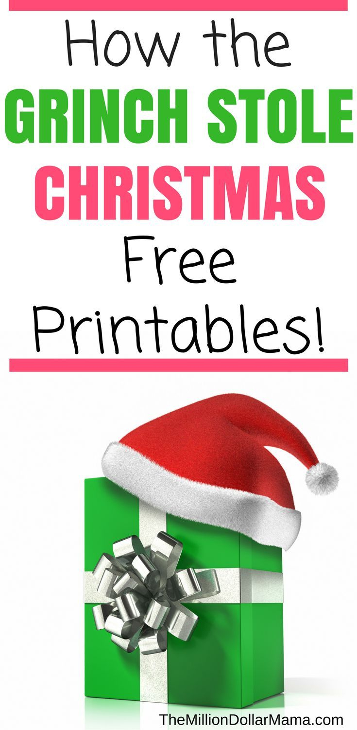 How The Grinch Stole Christmas Free Printables!   Christmas - Grinch Pills Free Printable