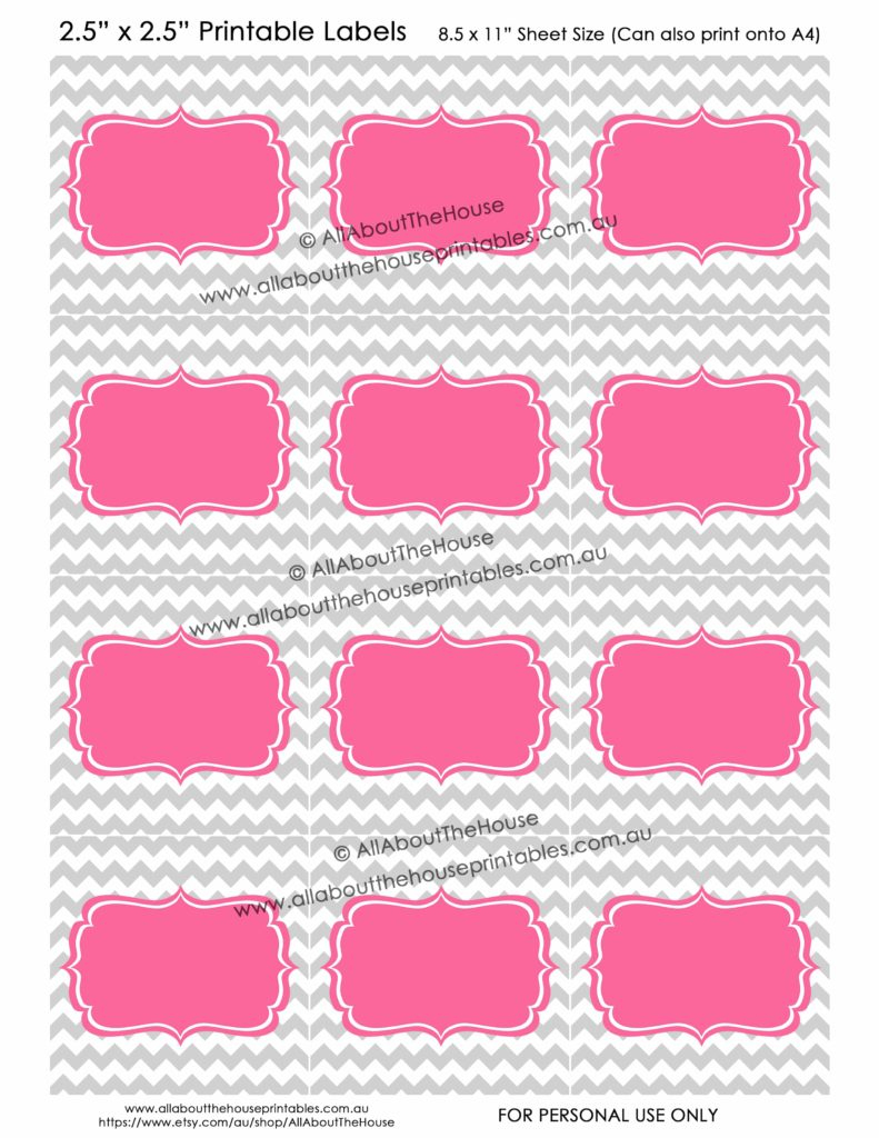 How To Add Your Own Text To Printable Labels (Plus Free Printable - Free Printable Chevron Labels