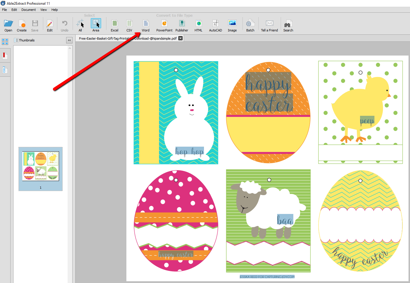 How To Convert And Edit Free Printable Easter Pdf Templates - Free Printable Easter Basket Name Tags
