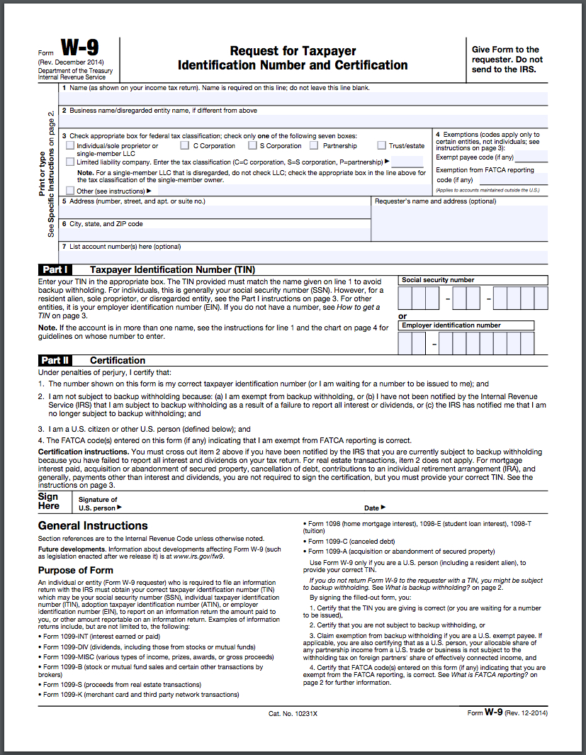 How To Fill Out A W-9 Form Online | Hellosign Blog - W9 Form Printable 2017 Free