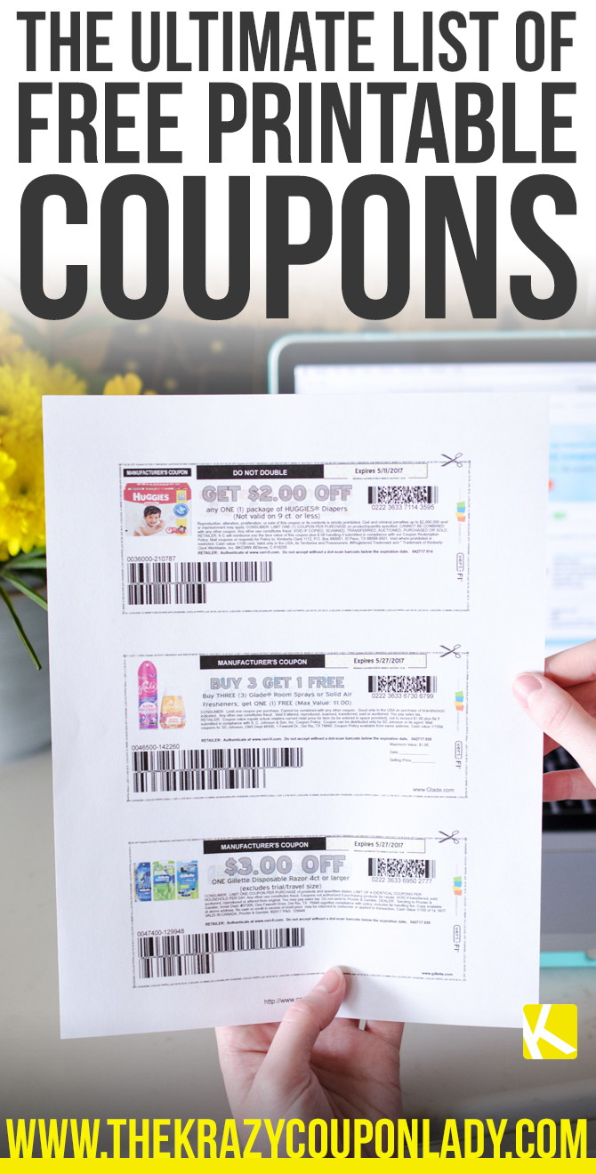 How To Find And Print Free Internet Coupons - The Krazy Coupon Lady - Free Printable Coupons For Food
