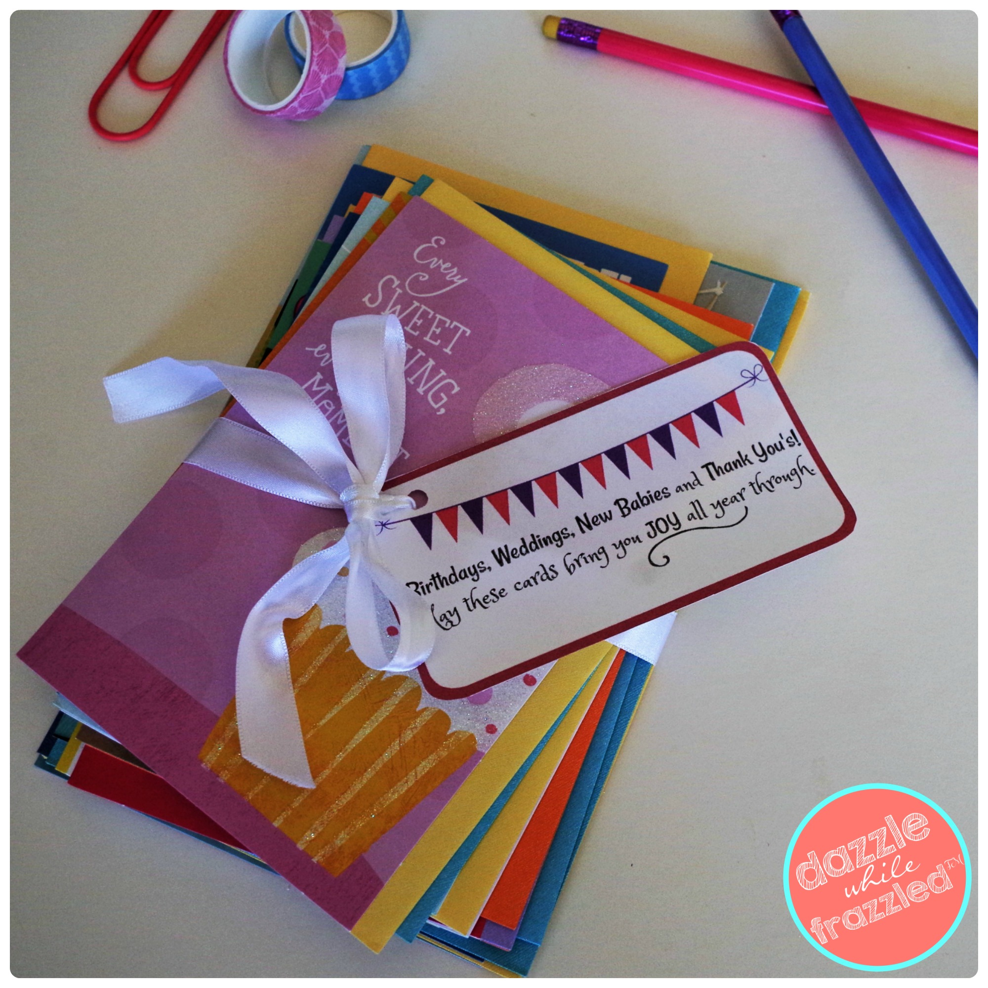 How To Make A Greeting Card Bundle + Printable Gift Tag - - Free Hallmark Christmas Cards Printable