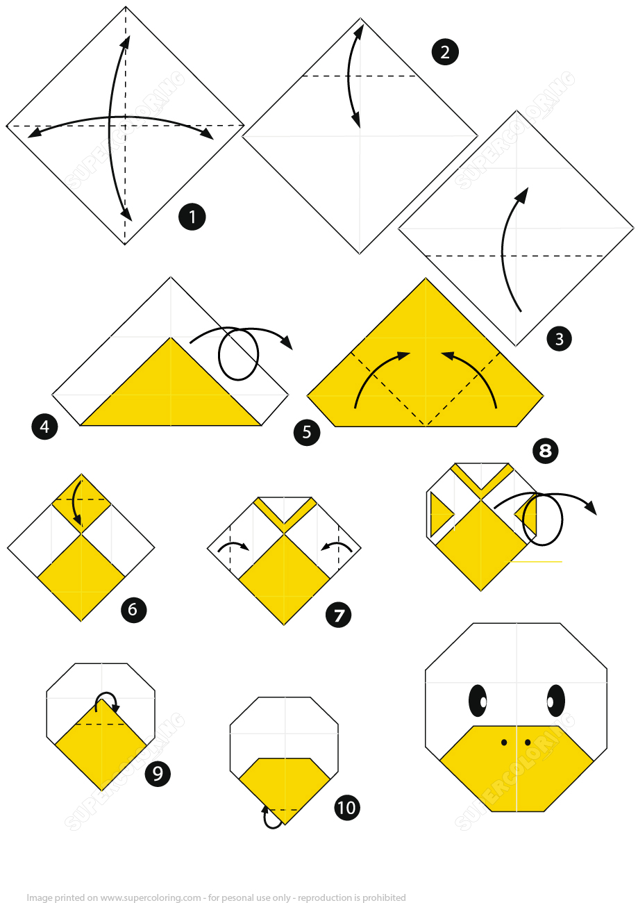 How To Make An Origami Duck Face Stepstep Instructions | Free - Printable Origami Instructions Free