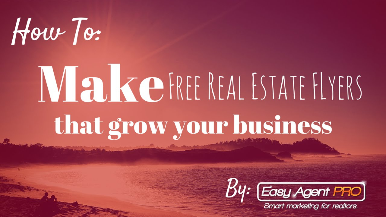 How To Make Free Real Estate Flyer Templates In Under 3 Minutes - Free Printable Real Estate Flyer Templates