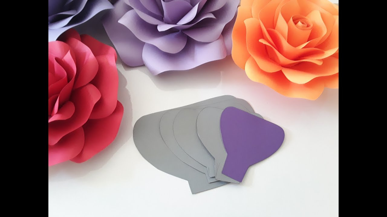 How To Make Paper Rose Templateshand / Template Tutorial - Youtube - Free Printable Paper Flower Templates