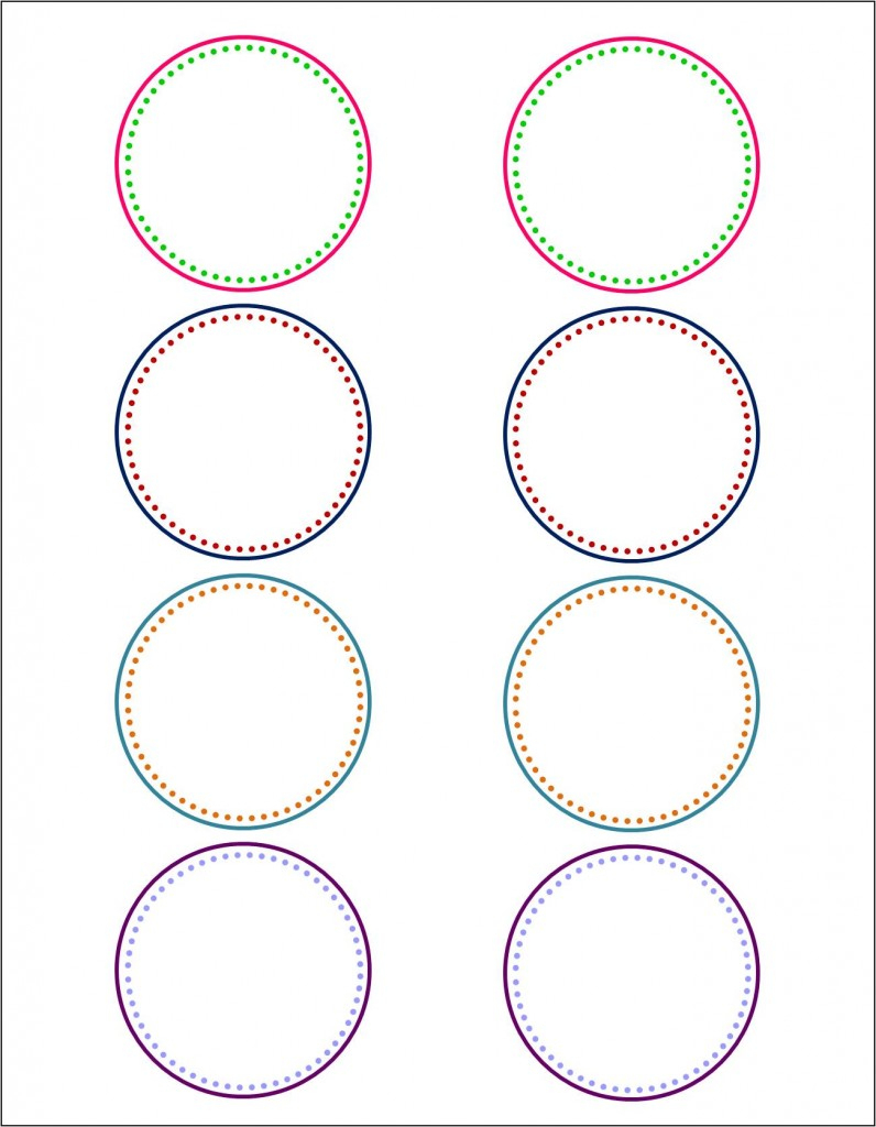 How To Make Pretty Labels In Microsoft Word - Free Printable 6 Inch Circle Template