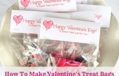 How To Make Valentine Treat Bag Toppers & Free Printable - Echoes Of - Free Printable Bag Toppers