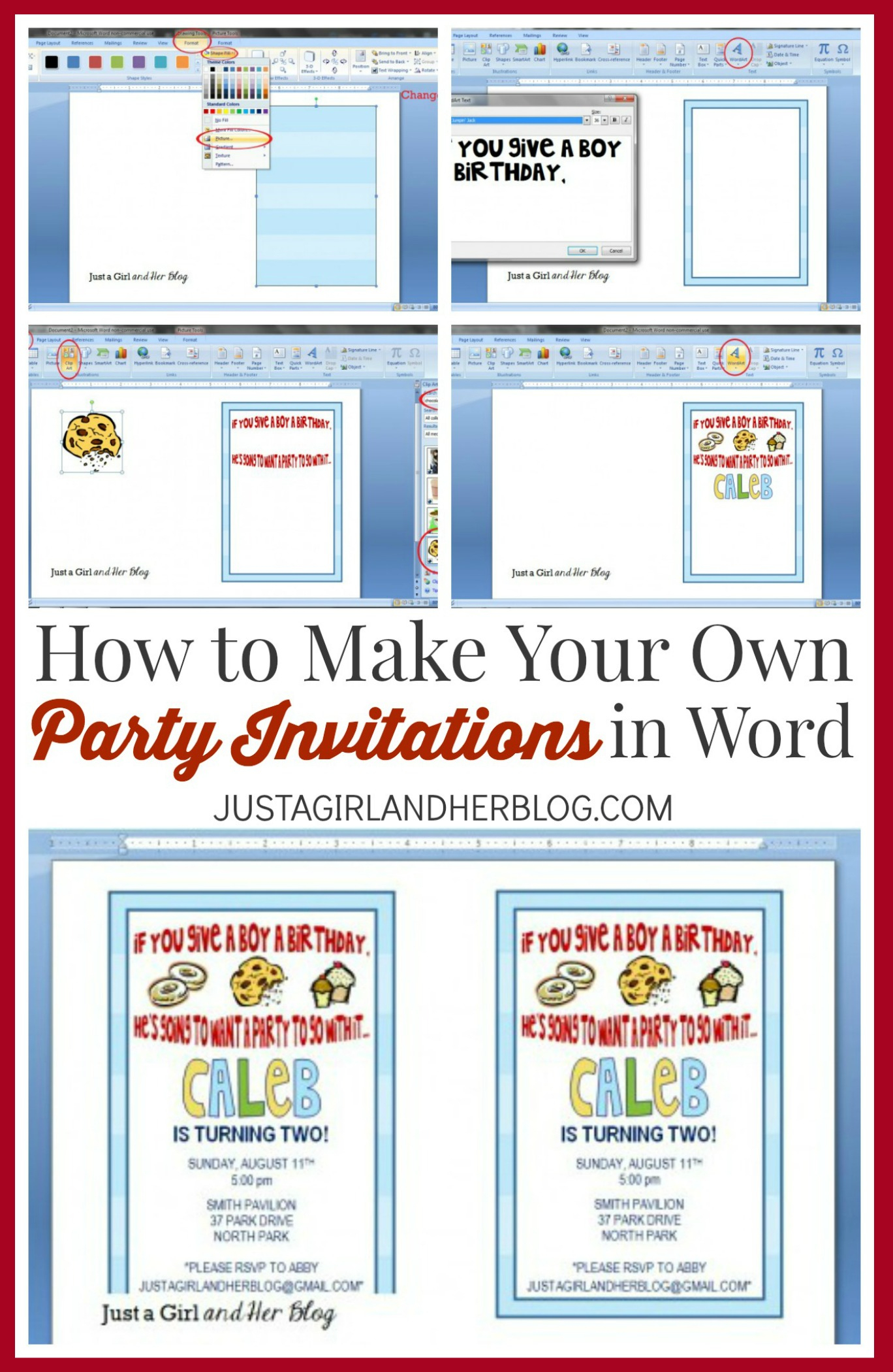 How To Make Your Own Party Invitations - Just A Girl And Her Blog - Play Date Invitations Free Printable