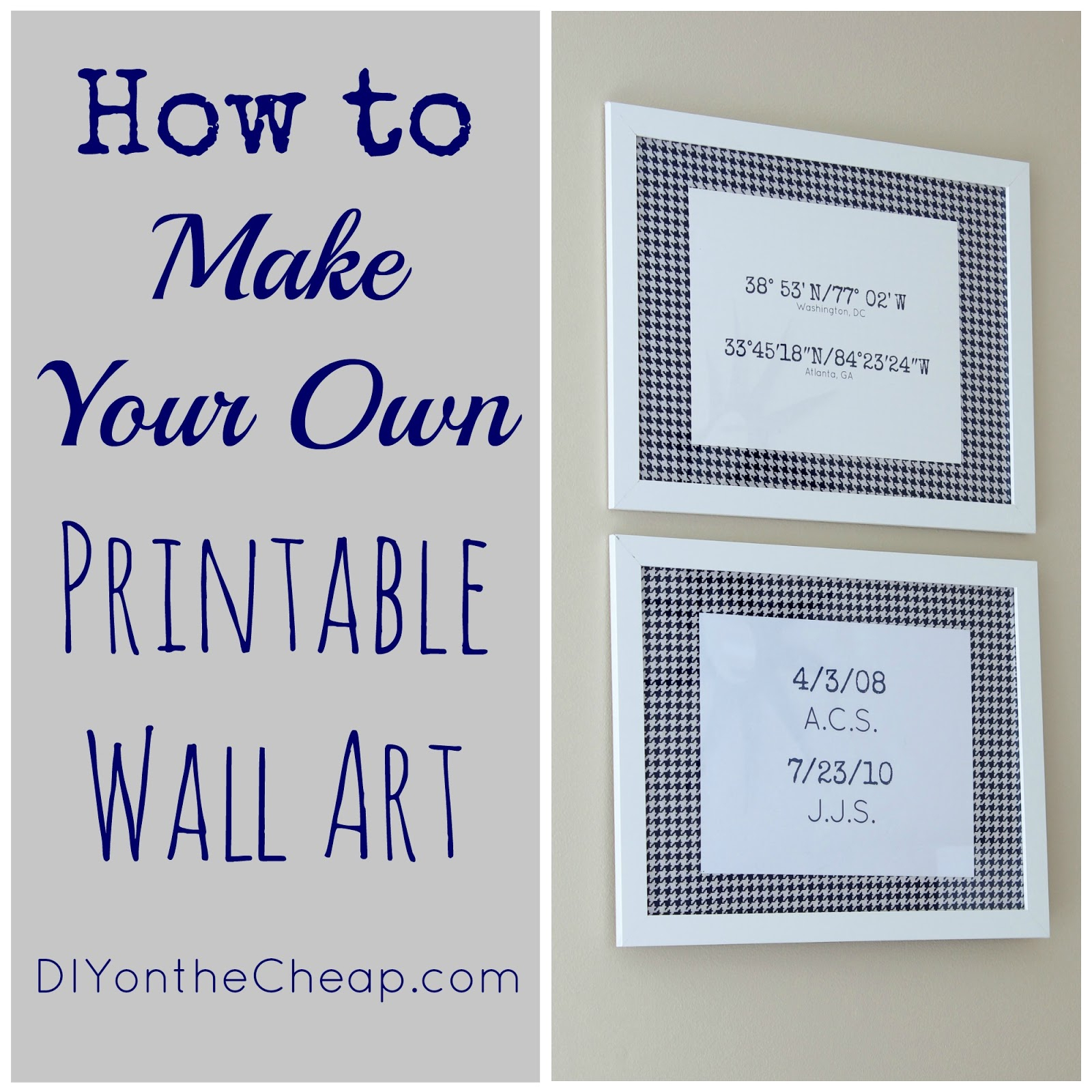 How To Make Your Own Printable Wall Art - Erin Spain - Make Your Own Tickets Free Printable