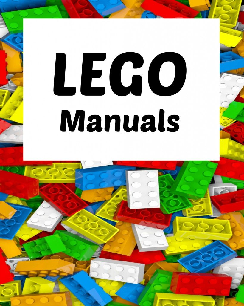 How To Organize Lego Manuals (+ Free Lego Printables!) | Blogger - Free Printable Lego Instructions
