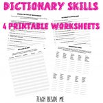 How To Teach Dictionary Skills To Kids – Teach Beside Me   Free Printable Picture Dictionary For Kids