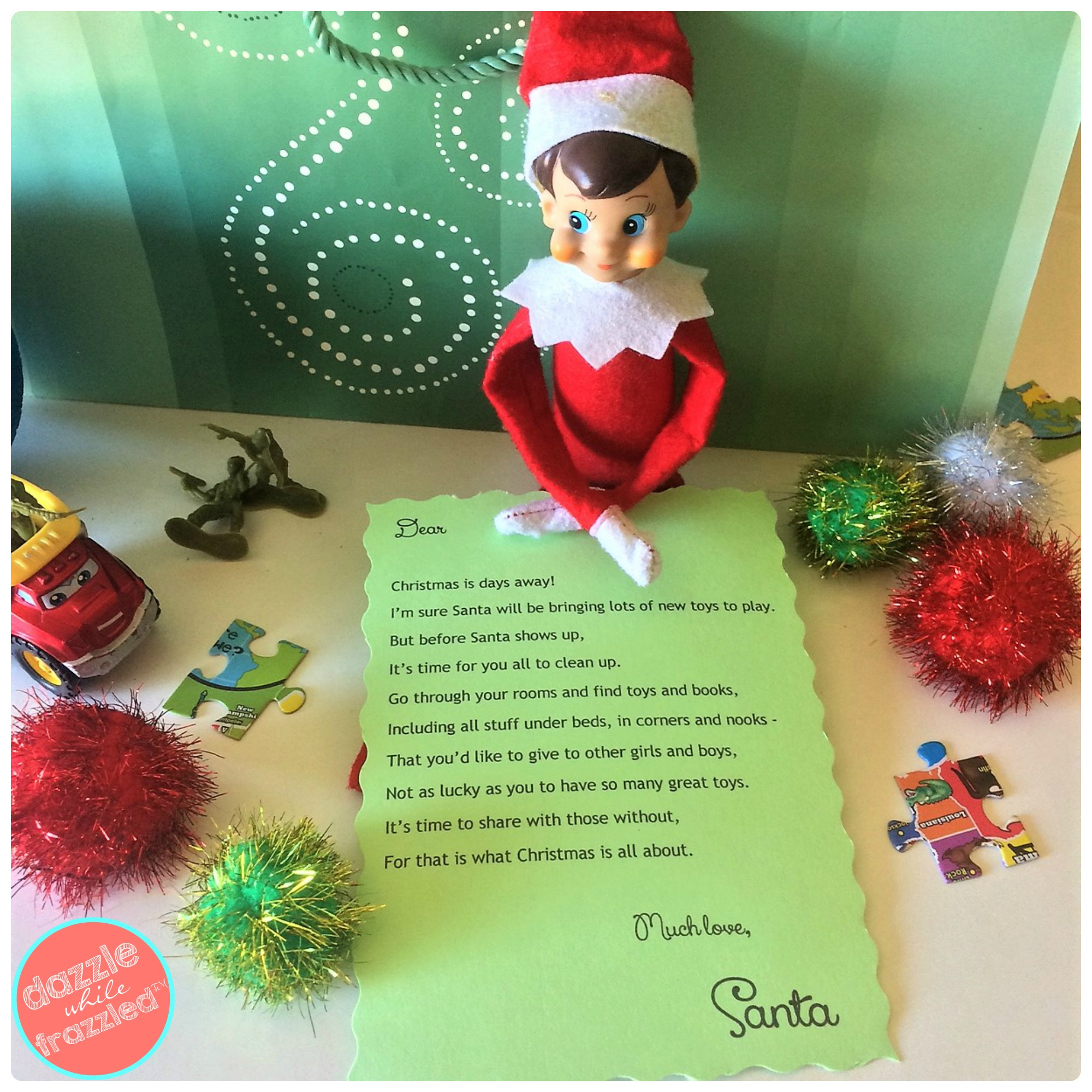 How To Toy Declutter With Free Printable Santa Note - - Free Printable Christmas Photo Collage
