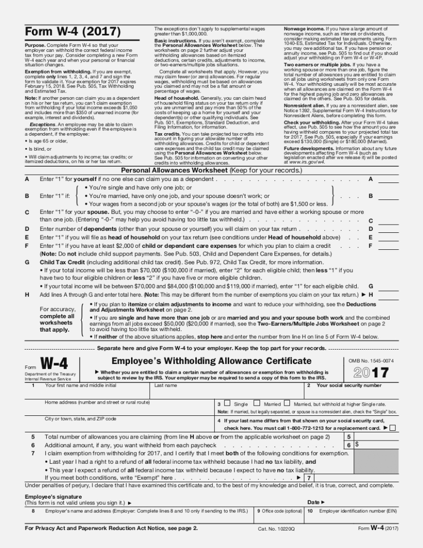 How W 14 Form 14 Printable | Invoice And Resume Template Ideas - Free Printable W 4 Form