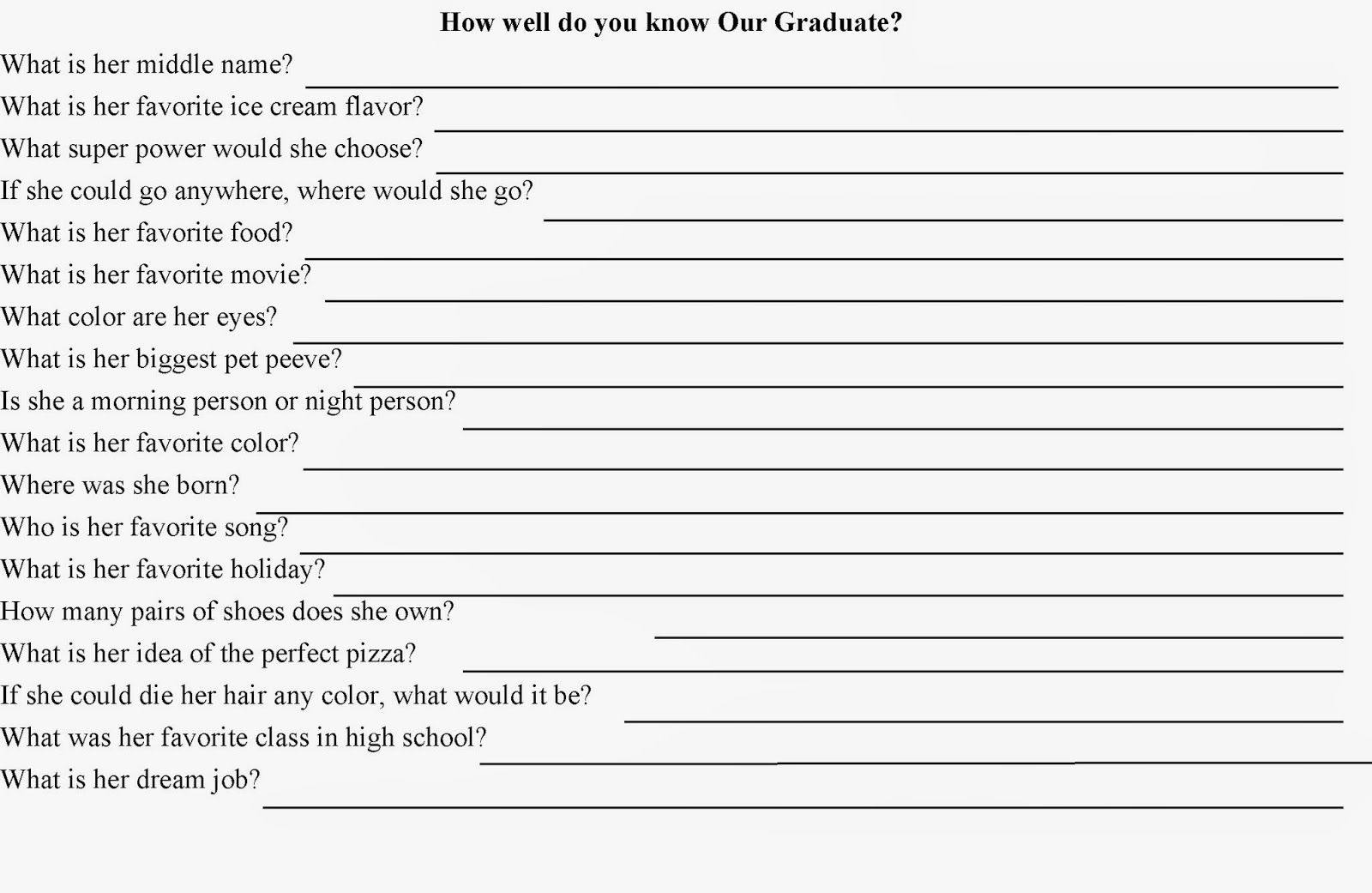 How Well Do You Know? Quiz Party Game | Someone's Turning 40 Soon - Retirement Party Games Free Printable
