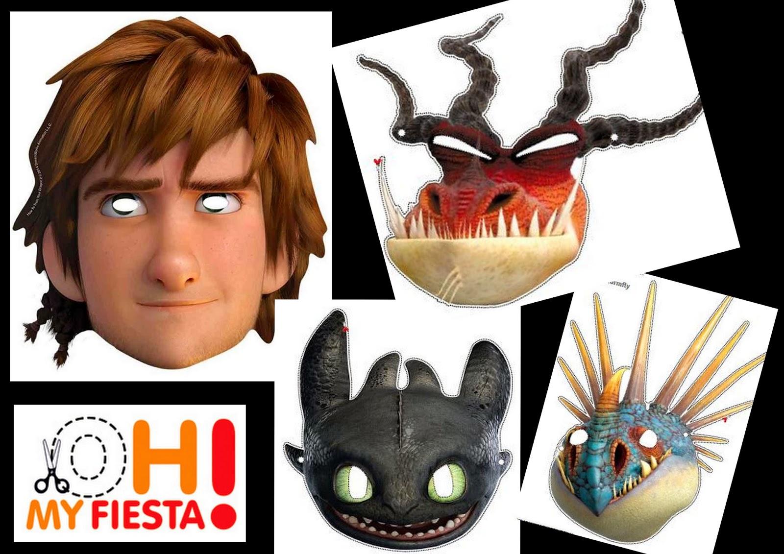 Httyd 2: Free Printable Masks. | Oh My Fiesta! In English - Dragon Mask Printable Free