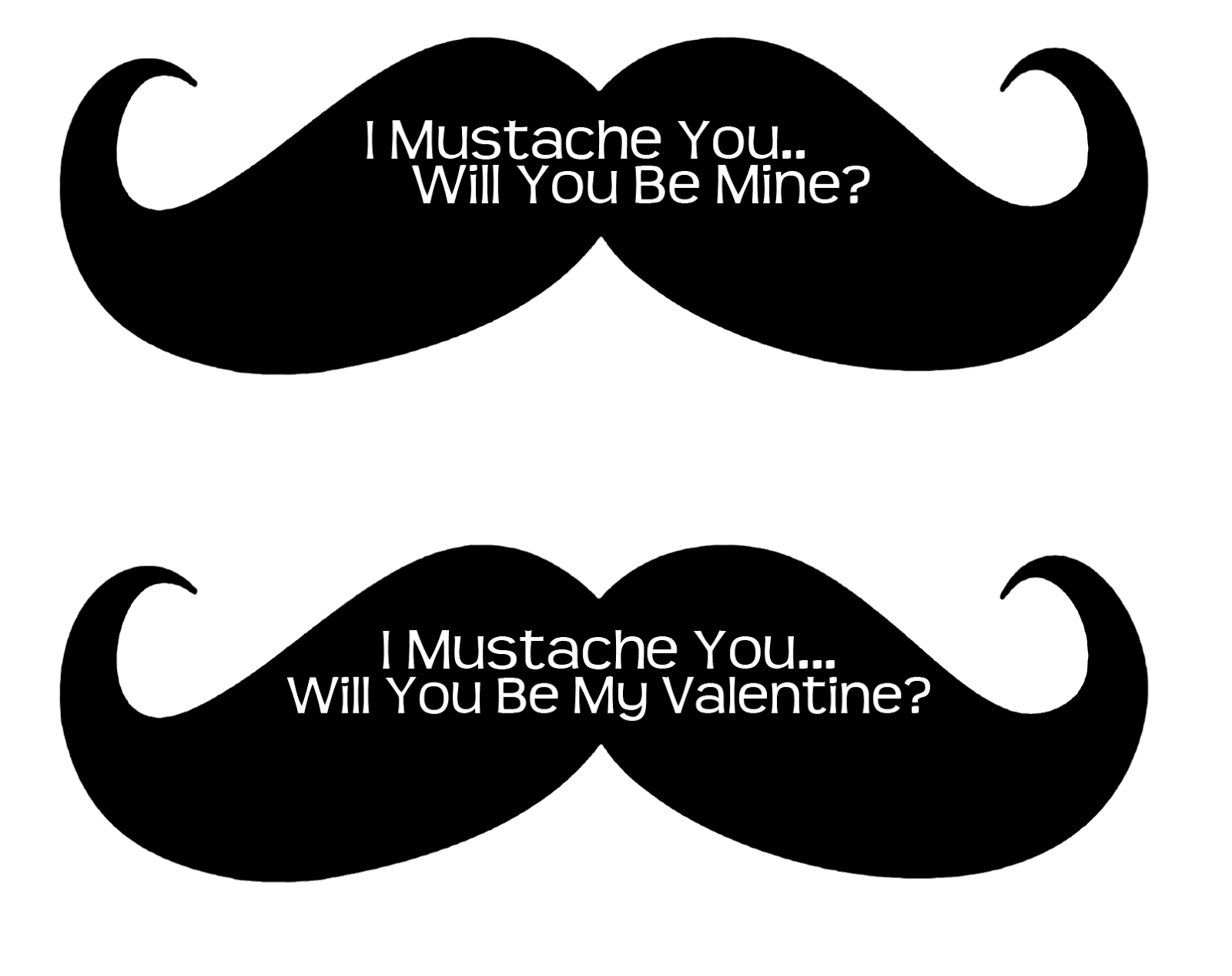 I Mustache You A Question| Free Printable Valentines | Frugalful 2.0 - Free Printable Mustache